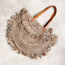 Foldover Bag - Raffia Natural