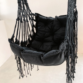 Canggu Hanging Hammock Chair - Black
